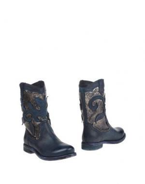 Полусапоги и высокие ботинки FABBRICA MORICHETTI. Цвет: темно-синий