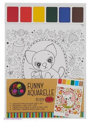 Набор для раскрашивания акварелью Собачка Fany Kribly Boo. Цвет: белый