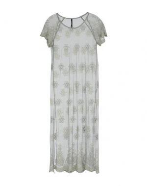 Платье длиной 3/4 EMPATHIE. Цвет: зеленый