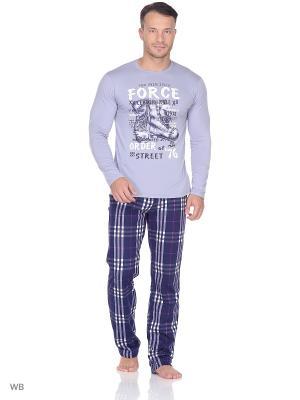 Комплект-лонгслив,брюки NAGOTEX. Цвет: серый