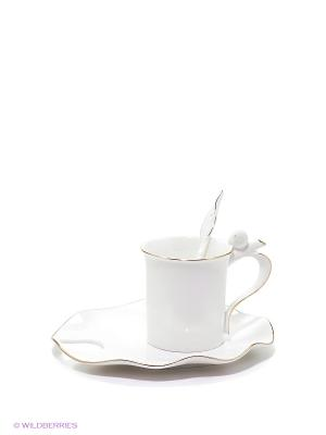 Кофейная пара Бамбук Pavone. Цвет: белый