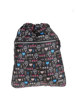 Рюкзак Happy Charms Family. Цвет: черный, синий, бежевый, розовый