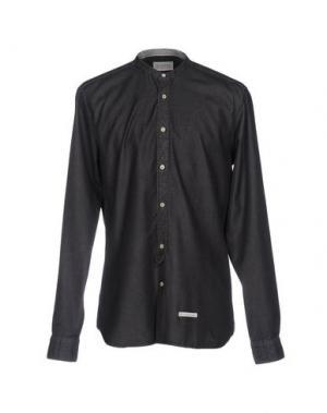 Джинсовая рубашка TINTORIA MATTEI 954. Цвет: стальной серый