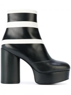 Ботильоны Amber в полоску на платформе Marc Jacobs. Цвет: чёрный