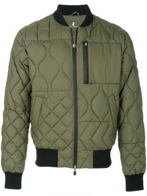 Стеганая куртка бомбер Christopher Raeburn. Цвет: зелёный