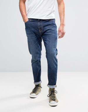 Nudie Jeans Синие выбеленные джинсы Co Brute Knut. Цвет: синий