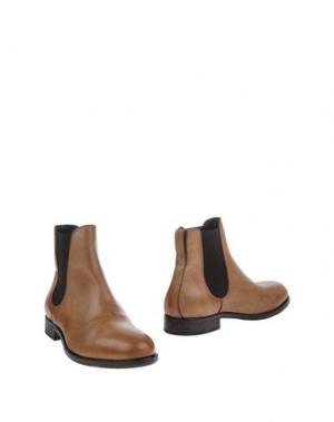 Полусапоги и высокие ботинки MOMA. Цвет: песочный