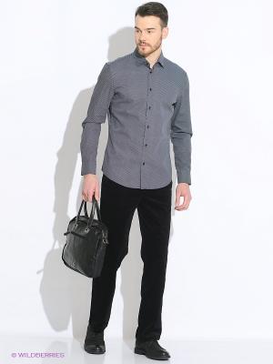 Рубашка INCITY. Цвет: черный, белый