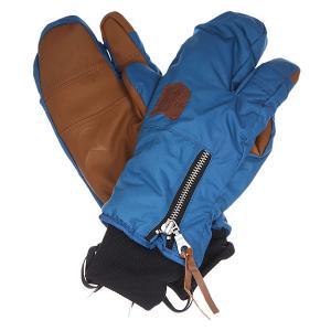 Варежки сноубордические женские  Hello Operator Ocean Celtek. Цвет: синий,коричневый