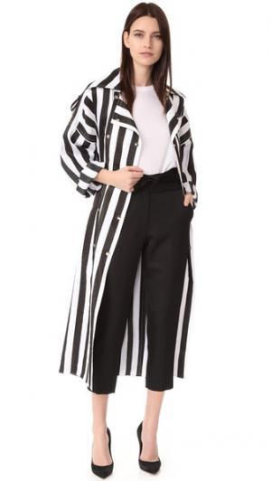 Пальто-тренч Nina Ricci. Цвет: черный/белый