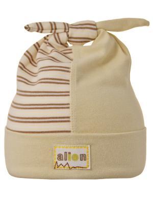 Шапка Elo-Melo. Цвет: светло-бежевый, коричневый, светло-желтый