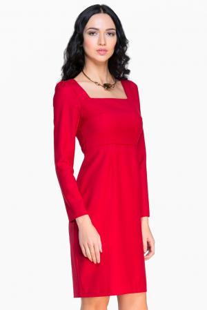 Платье из шерсти 136799 Villa Turgenev. Цвет: красный