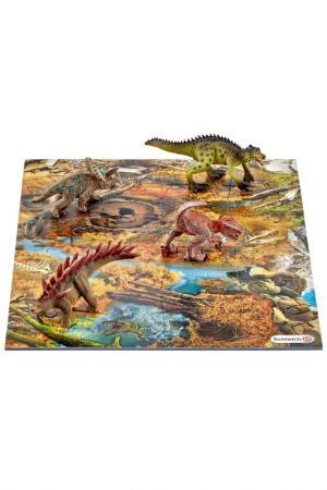 Набор мини-динозавры и пазл Schleich. Цвет: коричневый