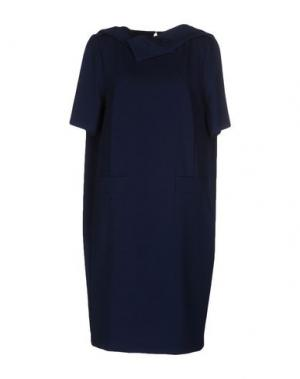 Платье до колена M!A F. Цвет: темно-синий