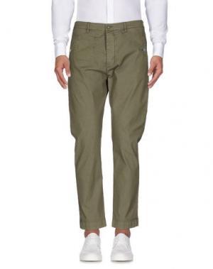 Повседневные брюки DANIELE ALESSANDRINI. Цвет: зеленый-милитари