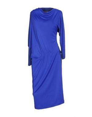 Платье до колена EMANUEL UNGARO. Цвет: темно-синий