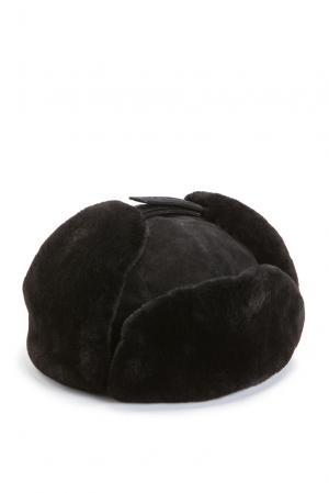 Замшевая шапка с отделкой из меха шиншиллы 158182 Zilli. Цвет: черный
