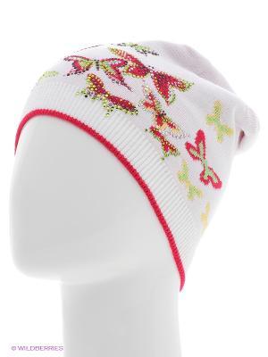 Шапка Totti. Цвет: малиновый, белый