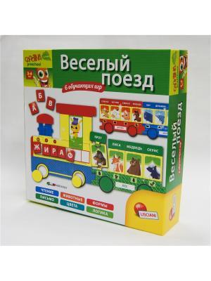 Настольная игра Веселый поезд. Lisciani. Цвет: зеленый, желтый, салатовый