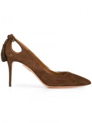 Туфли-лодочки Forever Marilyn Aquazzura. Цвет: коричневый