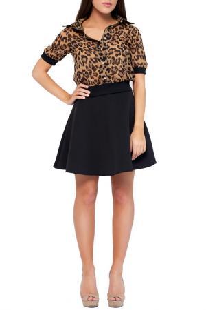 Рубашка Majaly. Цвет: черный, леопардовый