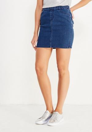 Юбка джинсовая H:Connect. Цвет: синий