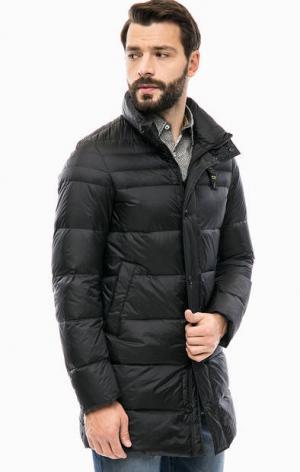 Удлиненный пуховик черного цвета Blauer usa. Цвет: черный