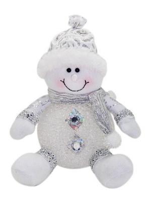 Светильник LED Снеговик 15 см, серебро Новогодняя сказка. Цвет: серебристый, белый
