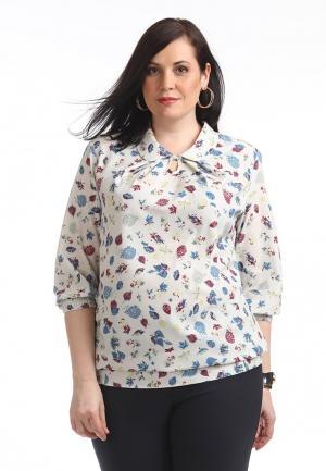 Блуза Averi. Цвет: бежевый