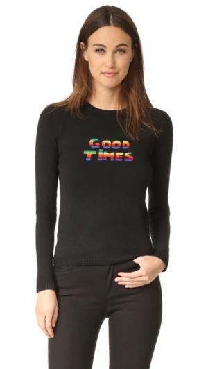 Кашемировый свитер с Good время блеск Bella Freud. Цвет: голубой
