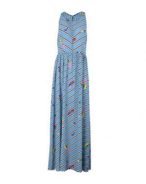 Длинное платье POUSTOVIT. Цвет: небесно-голубой