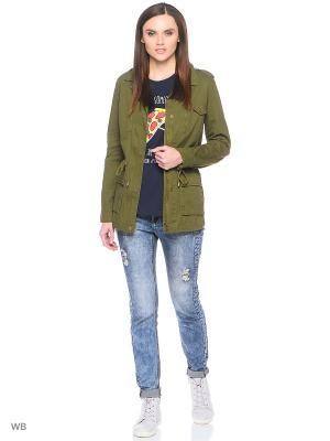 Куртка Cropp. Цвет: зеленый, терракотовый, рыжий