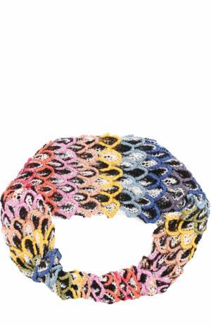 Вязаная повязка из вискозы Missoni. Цвет: фиолетовый