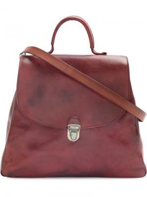 Трапецевидная сумка на плечо Cherevichkiotvichki. Цвет: красный