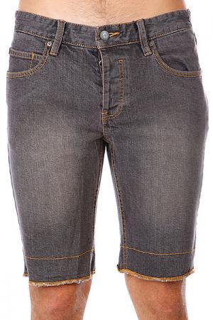 Шорты джинсовые  Classic Slim 5 Short Black Dirty Wash Etnies. Цвет: серый