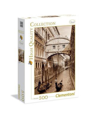 Clementoni. Серия High Quality. Монохромный Венеция. Пазл 500 элементов. Clementoni. Цвет: коричневый, желтый, белый