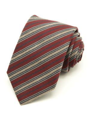Галстук Angelo Bonetti. Цвет: бордовый, коричневый