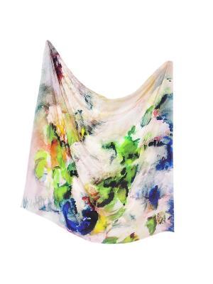 Платок Сиреневый платок, 90х90 см ArtNiva. Цвет: синий, зеленый
