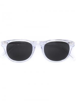 Солнцезащитные очки в квадратной оправе Cutler & Gross. Цвет: серый
