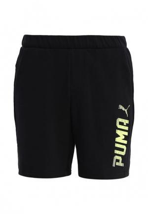 Шорты спортивные PUMA. Цвет: черный