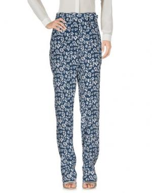 Повседневные брюки EQUIPMENT FEMME. Цвет: грифельно-синий