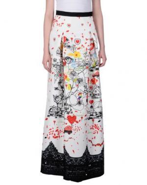 Длинная юбка PICCIONE•PICCIONE. Цвет: белый