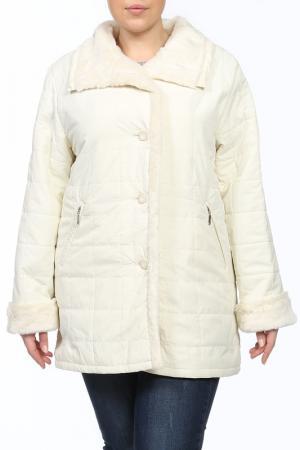 Куртка Hamilton. Цвет: бежевый