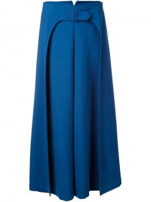 Юбка А-образного силуэта с поясом Vilshenko. Цвет: синий