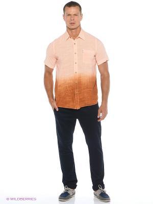 Рубашка Maestro. Цвет: оранжевый