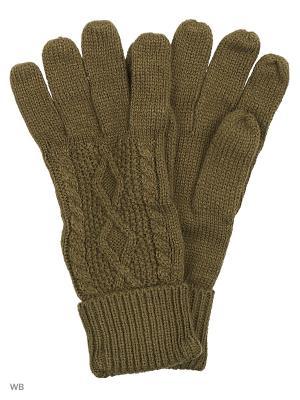 Перчатки Icepeak. Цвет: оливковый