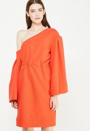 Платье Tutto Bene. Цвет: коралловый
