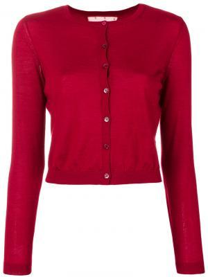 Укороченный кардиган Red Valentino. Цвет: красный