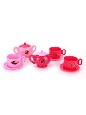 Набор посуды Играем вместе Маша и Медведь. Цвет: розовый