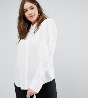 ASOS Curve Блузка с широкими рукавами. Цвет: белый